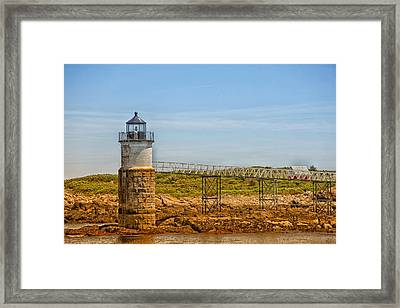 Ram Island Lighthouse Framed Print by Karol Livote