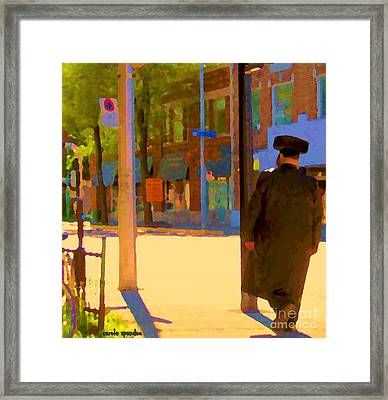 Ramacieri Soligo Building Supplies Rue Van Horne Outremont Montreal Street Scene Art Carole Spandau Framed Print by Carole Spandau