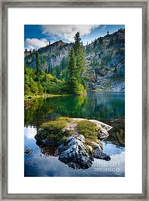 Ramparts Lake Framed Print by Inge Johnsson