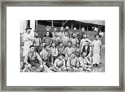 Ranch Cowboys Portrait Framed Print by Underwood Archives