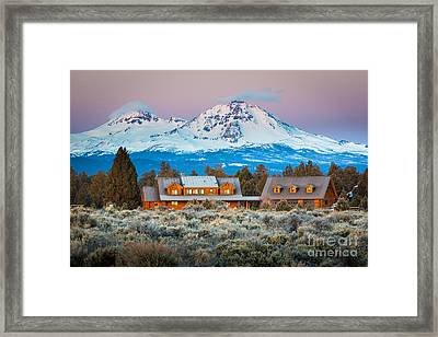 Ranch House And Sisters Framed Print by Inge Johnsson