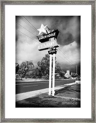 Ranch House Framed Print by John Rizzuto