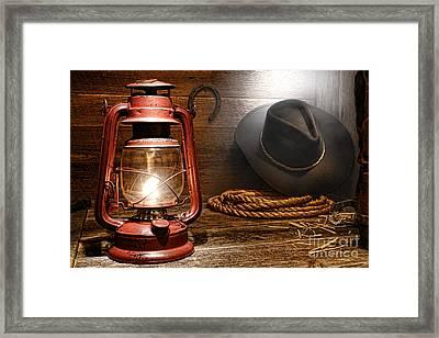 Ranch Light Framed Print by Olivier Le Queinec