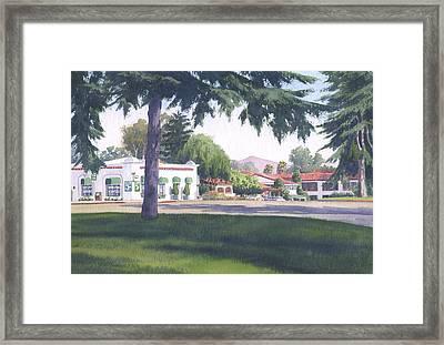 Rancho Santa Fe Center Framed Print by Mary Helmreich