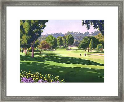 Rancho Santa Fe Golf Course Framed Print by Mary Helmreich