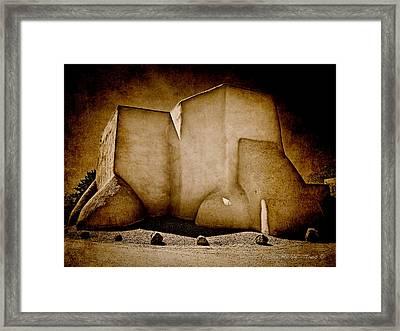 Ranchos Church Xx Framed Print by Charles Muhle