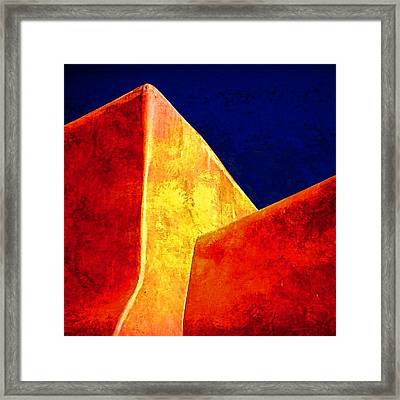 Ranchos In Orange And Yellow Framed Print by Carol Leigh