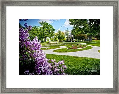 Rand Park Flower Garden Framed Print by Ed Vinson