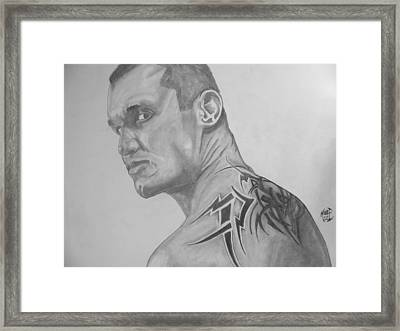 Randy Orton Framed Print by Justin Moore