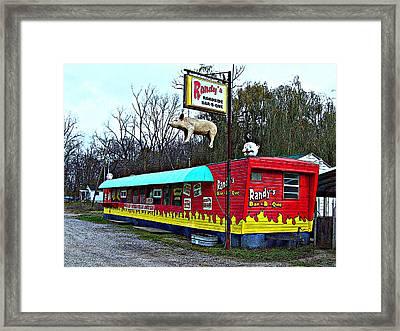 Randy's Roadside Bar-b-que Framed Print by MJ Olsen