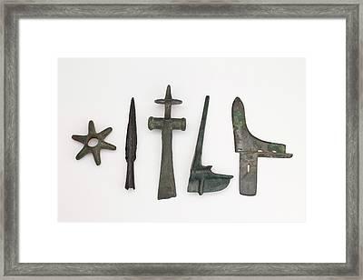 Range Of Global Bronze Age Weapons Framed Print by Paul D Stewart