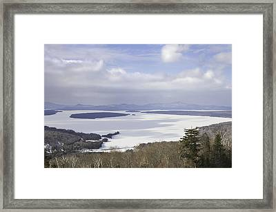 Rangeley Maine Winter Landscape Framed Print by Keith Webber Jr
