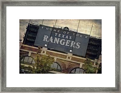 Rangers Ballpark In Arlington Color Framed Print by Joan Carroll