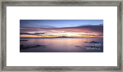 Rangitoto Before Dawn Auckland New Zealand Framed Print by Colin and Linda McKie