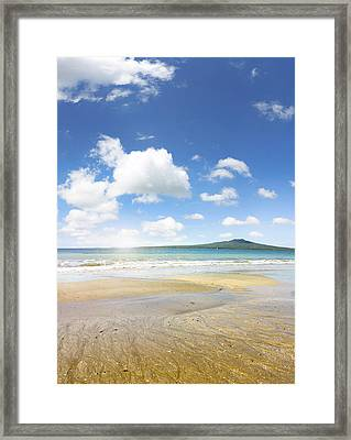Rangitoto Island Framed Print by Les Cunliffe