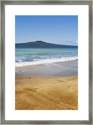 Rangitoto Framed Print by Les Cunliffe