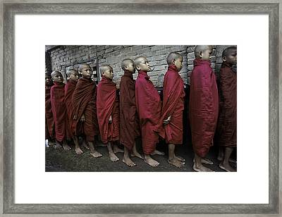 Rangoon Monks 1 Framed Print by David Longstreath