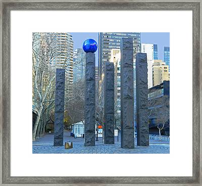 Raoul Wallenberg Memorial - Nyc Framed Print by Emmy Marie Vickers