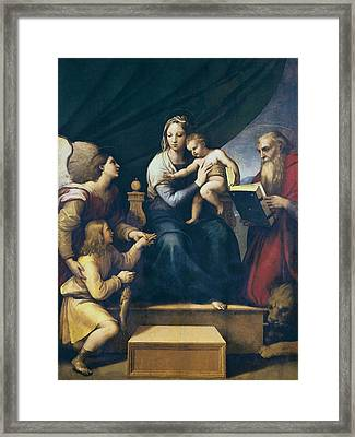 Raphael 1483-1520. The Madonna Framed Print by Everett