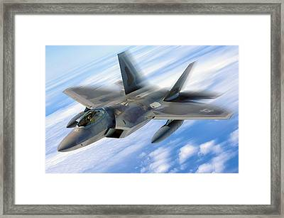 Raptor In Motion Framed Print by Peter Chilelli