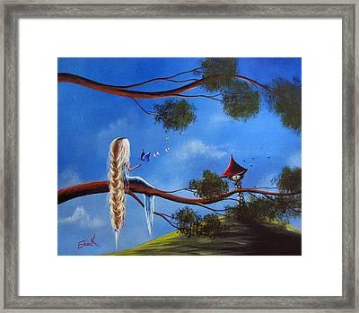 Original Fantasy Art By Shawna Erback Framed Print by Shawna Erback