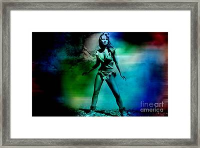 Raquel Welch Framed Print by Marvin Blaine
