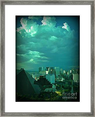 Rare Clouds Over Vegas Framed Print by John Malone