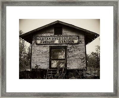 Raritan River Railroad Framed Print by Colleen Kammerer