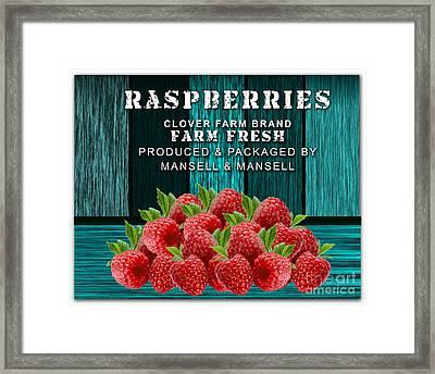 Raspberry Farm Framed Print by Marvin Blaine