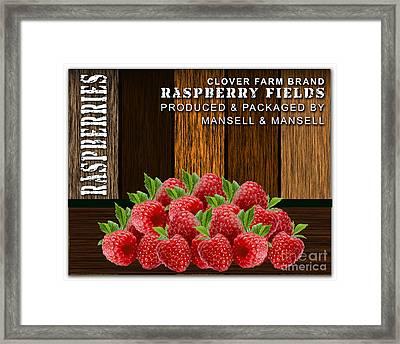 Raspberry Fields Forever Framed Print by Marvin Blaine