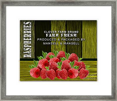 Raspberry Fields Framed Print by Marvin Blaine