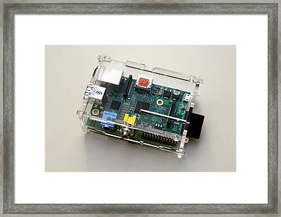 Raspberry Pi Micro-computer Framed Print by Victor De Schwanberg