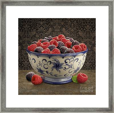 Raspberry Still Life Framed Print by Danny Smythe