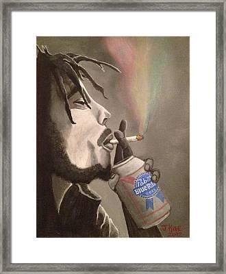 Rasta Pabst Framed Print by J Kae Good Bear