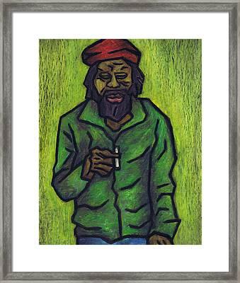Rastafarian Framed Print by Kamil Swiatek