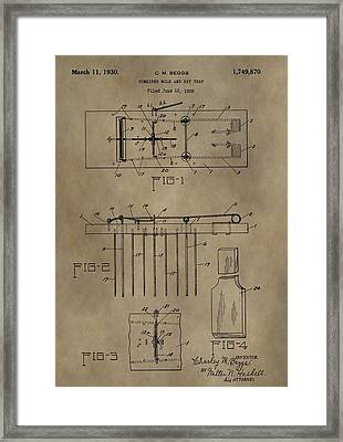 Rat Trap Patent Framed Print by Dan Sproul
