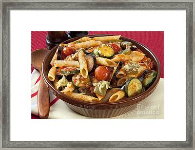 Ratatouille Pasta Bake Framed Print by Colin and Linda McKie