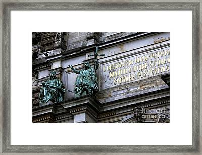Rathaus Guardians Framed Print by John Rizzuto