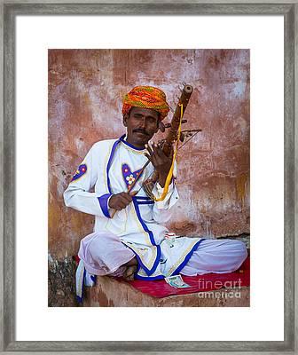 Ravanhatha Musician Framed Print by Inge Johnsson