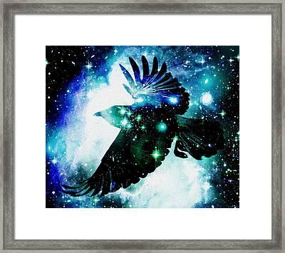 Raven Framed Print by Anastasiya Malakhova