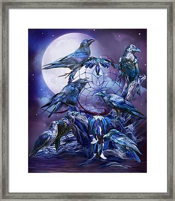 Raven Dreams Framed Print by Carol Cavalaris