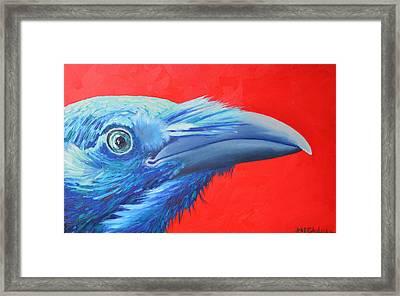 Raven Portrait Framed Print by Ana Maria Edulescu
