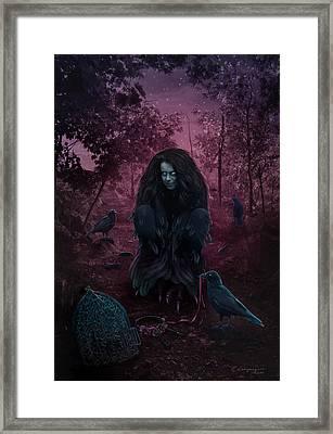 Raven Spirit Framed Print by Cassiopeia Art