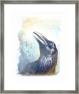 Raven's Call Framed Print by Catherine Noel
