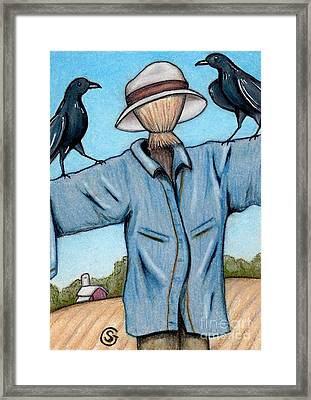 Ravens -- Like They Think This Will Work... Lol Framed Print by Sherry Goeben