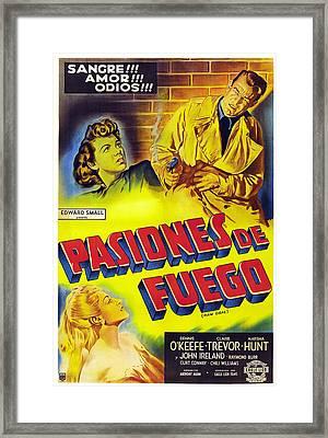Raw Deal, Aka Pasiones De Fuego, Top Framed Print by Everett