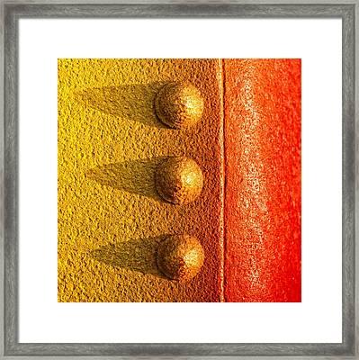 Raw Steel Framed Print by Tom Druin