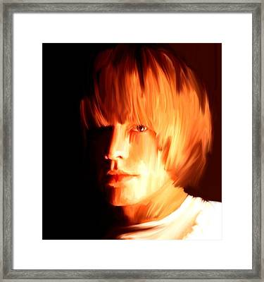 Raw Stone  Brian Jones Framed Print by Iconic Images Art Gallery David Pucciarelli