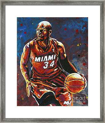 Ray Allen Framed Print by Maria Arango