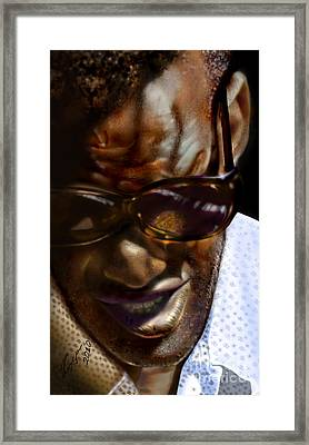 Ray Charles-beyond Sight 2 Framed Print by Reggie Duffie